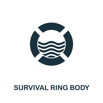 Survival Ring Budy icon. Simple illustration from personal protection collection. Creative Survival Ring Budy icon for web design, templates, infographics and more