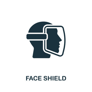 Face Shield icon. Simple illustration from personal protection collection. Creative Face Shield icon for web design, templates, infographics and more