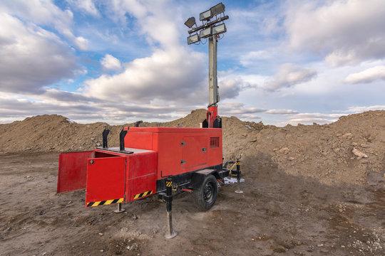 Portable lighting equipment for construction