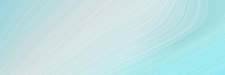 Foto auf AluDibond Licht blau landscape orientation graphic with waves. modern waves background illustration with powder blue, light gray and sky blue color
