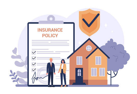Homeowner's insurance concept. Idea of security and protection