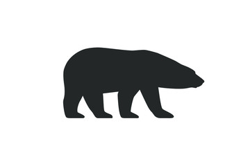 Polar bear graphic icon. Arctic bear sign isolated on white background. White bear symbol. Vector illustration