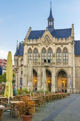 Fototapete - Town hall of Erfurt, Germany