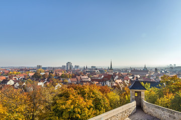 Fototapete - View of Erfurt, Germany