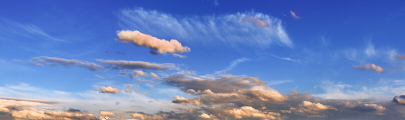 Wall Mural - Evening sky with clouds