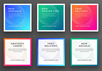Abstract Social Media Post Layout with Gradient Color