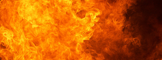 Printed roller blinds Fire / Flame blaze fire flame conflagration texture for banner background