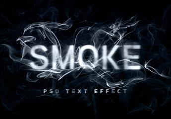 Smoke Text Effect Mockup