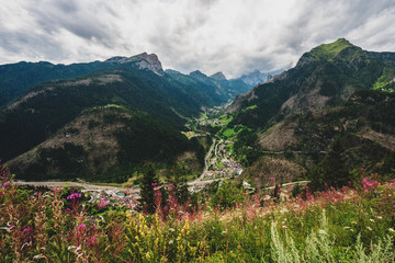 panoramic view of the Dolomites, Province of Biella