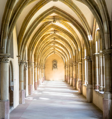 Arcade of the german Gothic Cloister Cathedral