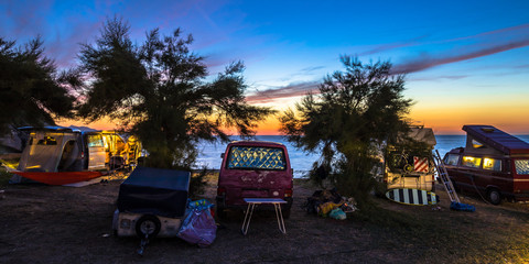Wall Mural - Campers and Motorhomes