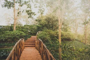 Wall Murals Road in forest Garden Bridge
