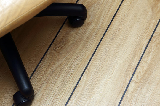 office chair, on the parquet