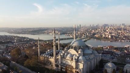 Fotomurales - Aerial view of Suleymaniye Mosque.