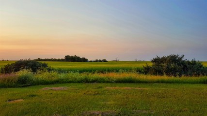 Papiers peints Nature Scenic View Of Field Against Sky During Sunset