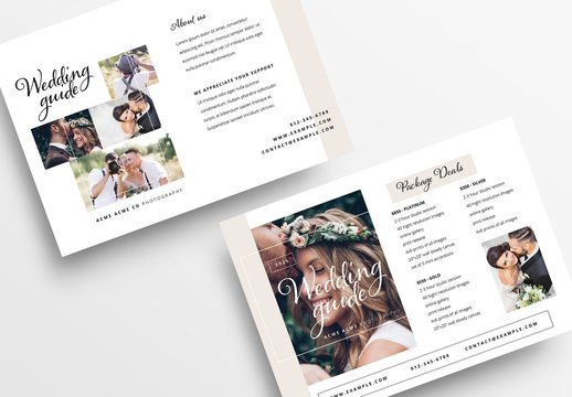 Wedding Photographer Flyer Layout