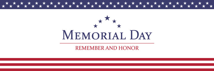Memorial Day background vector illustration Fotomurales