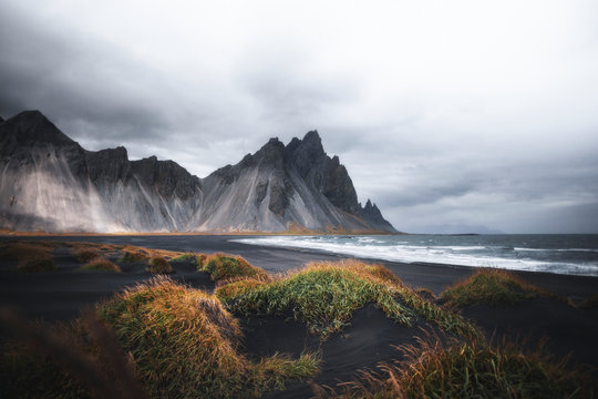 Beautiful Icelandic Stokksnes beach
