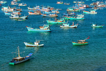 "Royalty high quality free stock image of boats at "" Nha "" beach on Son island, Kien Giang, Vietnam. Near Phu Quoc island"