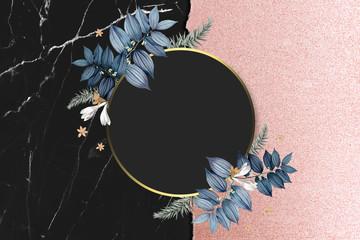 Blank floral badge