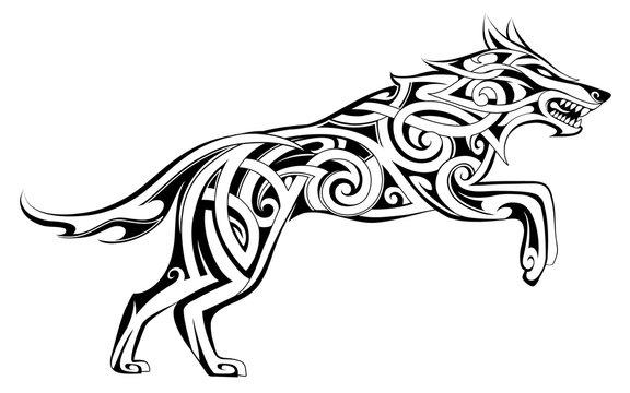Wolf tattoo Celtic style
