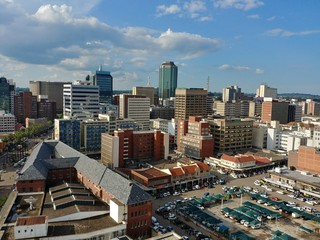 Foto auf Leinwand Braun Uptown Harare Zimbabwe