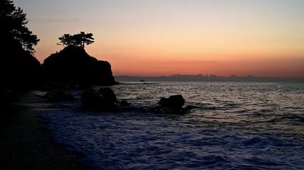 Wall Mural - 裏桂浜の夜明け