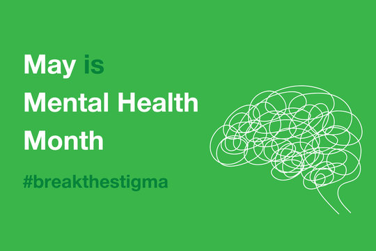 May is Mental Health Awareness Day 2020 Brain Confusion Icon Minimalist Vector