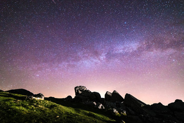 Light painting and astrophotography in Dartmoor National Park, UK