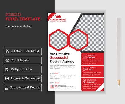 Corporate business flyer template design, business flyer template design with abstract concept and minimalist layout