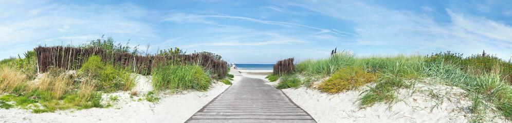 Foto op Plexiglas Noord Europa Baltic Sea Beach - Dune Path Panorama