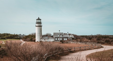 Fototapeten Cappuccino The Highland Light (previously known as Cape Cod Light) is an active lighthouse on the Cape Cod National Seashore in North Truro Massachusetts.