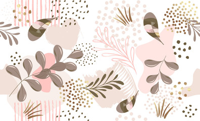 Seamless floral pattern.  Vector hand draw