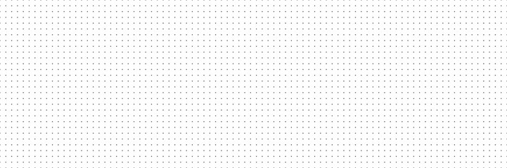 Obraz Vector panorama drafting paper. Graphic regular dots grid background. Panorama paper sheet for web design. - fototapety do salonu