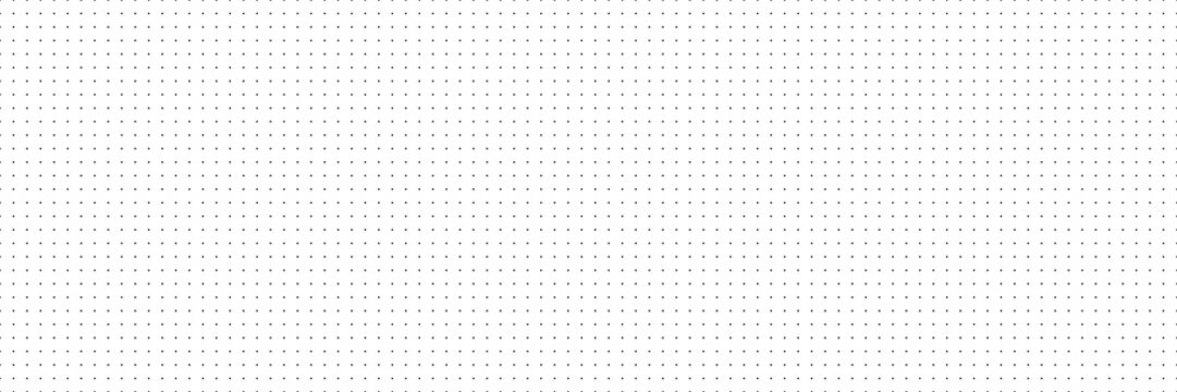 Vector panorama drafting paper. Graphic regular dots grid background. Panorama paper sheet for web design.