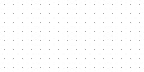 Horizontal seamless vector black dots on white background. Seamless dot grid technology background template.