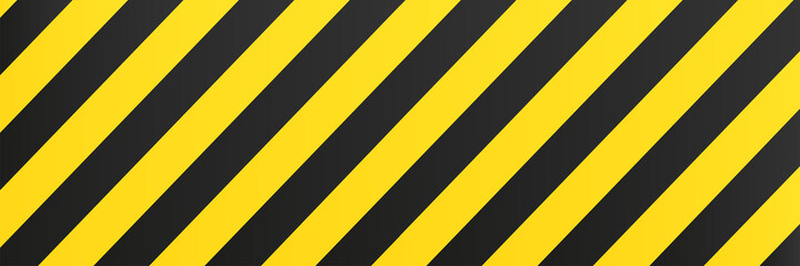 Yellow black background stripes.  Risk sign abstract pattern vector