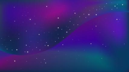 紫のグラデーションの美しい星空、宇宙の背景グラフィック素材