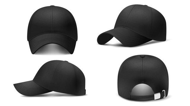 Black cap Mockup, realistic 3D