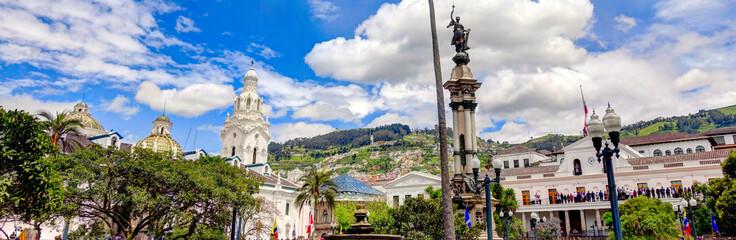 Wall Mural - Historical center of Quito, Ecuador