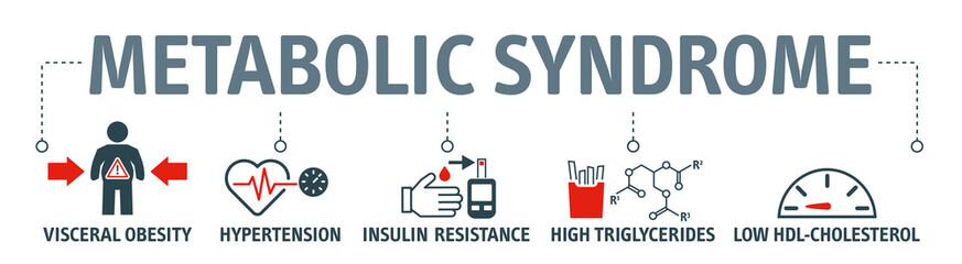 The metabolic syndrome infographics with icons