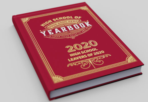 Vintage Yearbook Cover Layout