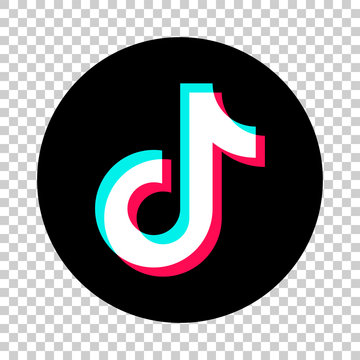 Tik Tok glitch icon of social media. Tik Tok icon. tik tok application. Vector flat icon. EPS 10. Vinnitsa, Ukraine - April 21, 2020
