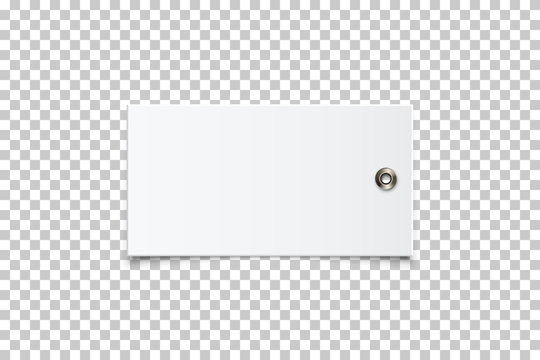 Vector realistic empty paper clothing label