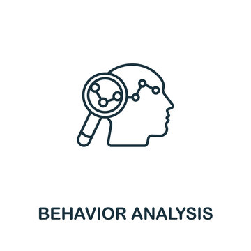 Behavior Analysis icon from artificial intelligence collection. Simple line Behavior Analysis icon for templates, web design and infographics
