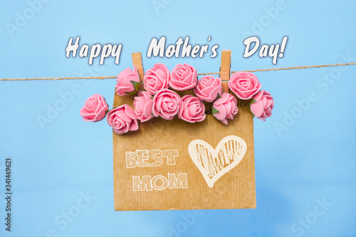 Happy Mother's Day wishing card in pastel soft colors