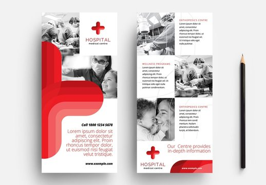 Medical Hospital Rack Card Flyer Layout