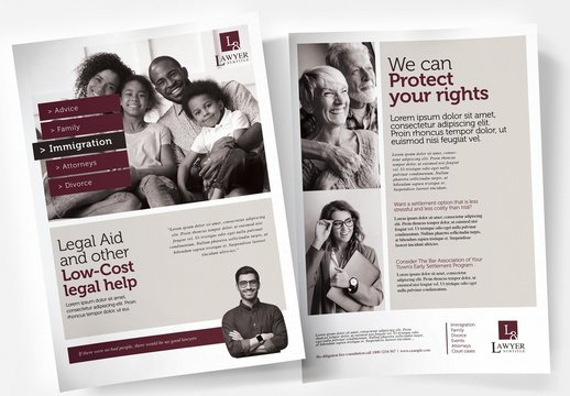 Law Firm Poster Layout