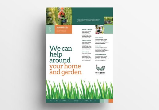 Garden and Landscape Service Poster Layout