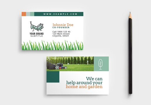 Gardener and Landscaper Business Card Layout
